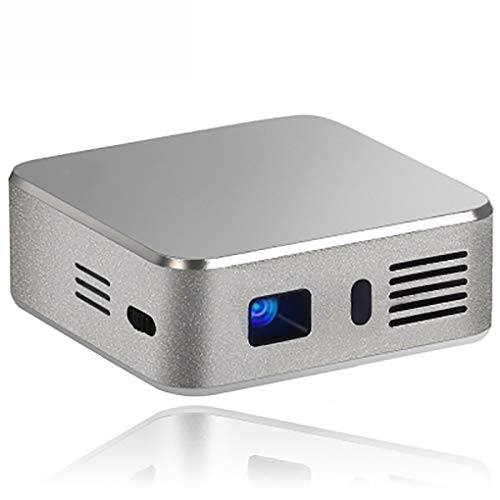 Mini DLP Pocket Projector, Android 4.4.4 RK3128 Quad Core 120 Lumens 854 X 480 Pixels 1080P HD Media Player Ondersteuning Voor Wifi Bluetooth, Compatibele AV-TF Card Slot