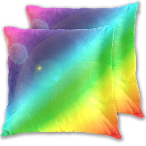 SAIAOS Kuddöverdrag 40 x 40 cm kurs färg lugn målningsteknik abstrakt mönster glad upplyst, uppsättning av 2 dekorativa fyrkantiga prydnadskuddöverdrag för vardagsrum soffa stol säng