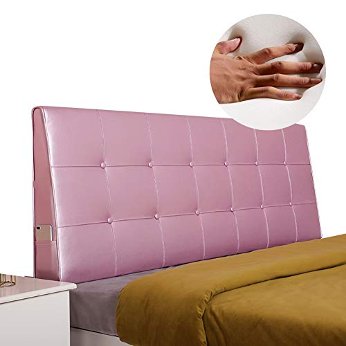 KKCF-Headboard Cushion, Bed Big Back Washable Bamboo Charcoal Sponge Anti-Collapse Bedroom Multiple Color Options High Comfort Environmental Protection (Color : Princess Powder, Size : 200x62x13cm)