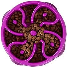 Outward Hound Fun Feeder Slo Bowl, Slow Feeder Dog Bowl, Medium/Mini, Purple