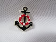 Anchor badge/pin 3D quality plastic item great detailing, nautical themed badge as shown dimensions: 3cm x 2cm Excellent quality, posted from London by Fat-catz-copy-catz