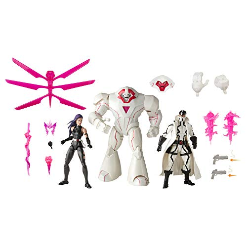 Hasbro Marvel Legends Series X-Men 15 cm große Action-Figuren Psylocke, Marvel's Nimrod und Fantomex, 15 Accessoires