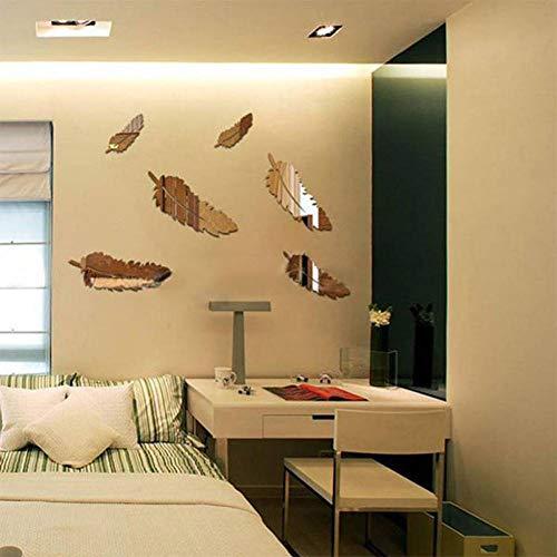 HYYDHD 3D spiegel muur Stickers Home Decor Art Decal muur Stickers voor kinderen kamer woonkamer decoreren Goud
