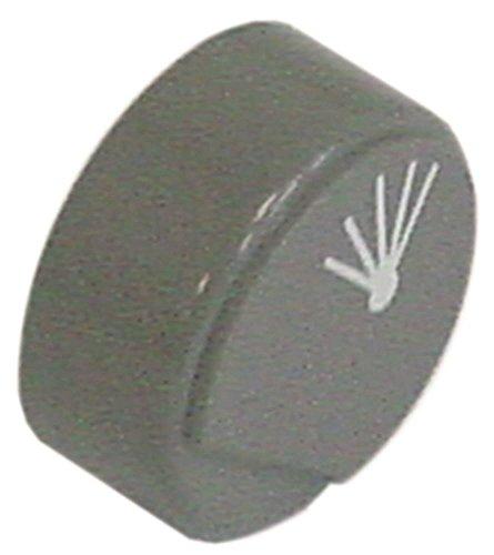 Comenda drukknop voor vaatwasser BHC30HRA, BHC30HR, BHCHR, BHC30HRA380 grijs symbool naspoeling ø 23 mm zonder lens