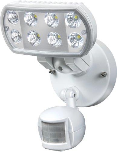 Brennenstuhl 1178550 Projecteur mural LED L801, IP55, PIR, 8 x 1 W avec détecteur de mouvement (Blanc)