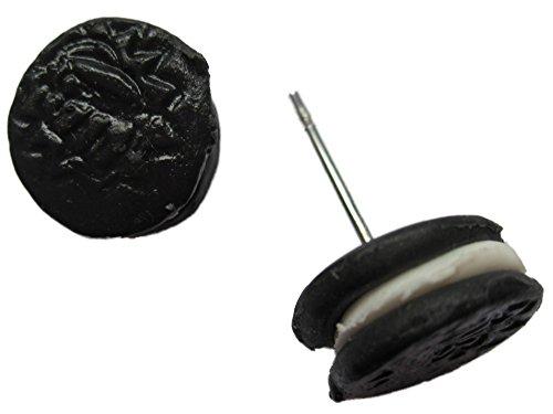 Ohrringe Stecker Ohrstecker handgemachter Keks Schokolade Cookie doppelt *1192*