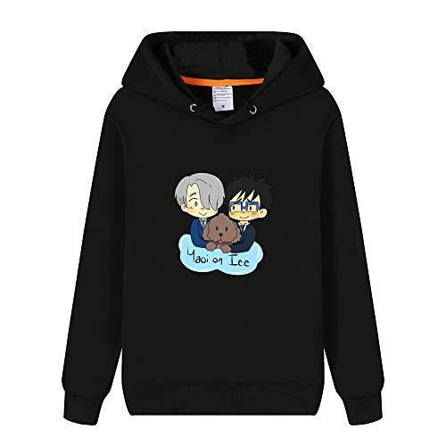 Fkjhkerk Yuri on Ice Pullover Personalizar Estilo de la Universidad Sudadera con Capucha de Ocio Flojo suéter de la Manera Hombres Unisex (Color : E19, Size : M)