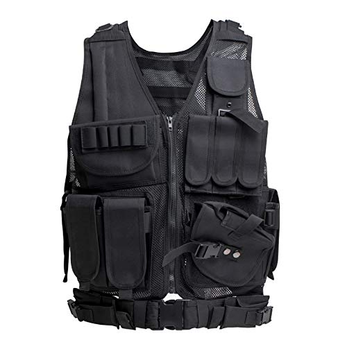 Himal Tactical Vest for Men-600D Encryption Polyester-Military Vest-Adjustable Lightweight Combat