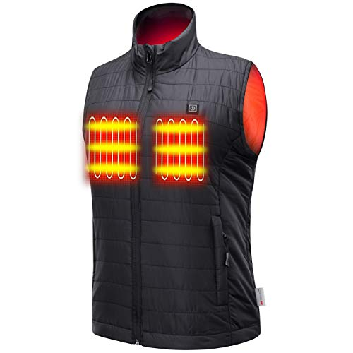 Sunbond Heated Vest with Battery Pack, Warming electric heated vest for Men