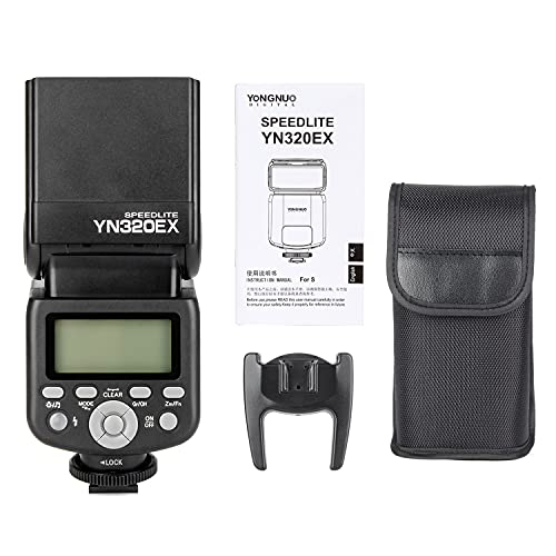 Yongnuo YN320EX S 2.4G Wireless Flash Speedlite HSS 1/8000s TTL M Multi Master Flash Unit for Sony Cameras Compatible with Sony a7 a7ii a6000 A7R-II A7R a6300 a6500 Youngnuo YN-320EX S