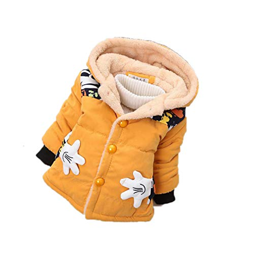 Guy Eugendssg Infant Coat Autumn Winter Baby Jackets for Baby Boys Jacket Kids Warm Outerwear Coats Yellow1 9M