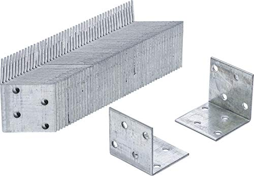 BGS Do it yourself 80934-50 | Winkelverbinder | 50 Stück | 40 x 40 x 40 x 2 mm | Spar-Pack | verzinkt | Lochwinkel