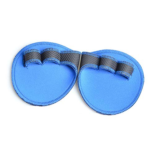 1 Pair Lifting Grips Durable Grip Pads Neoprene Padded Hand Grips Flexible Palm Weight Lifting Gloves for Gym Fitness Workouts Weightlifting Dark Blue