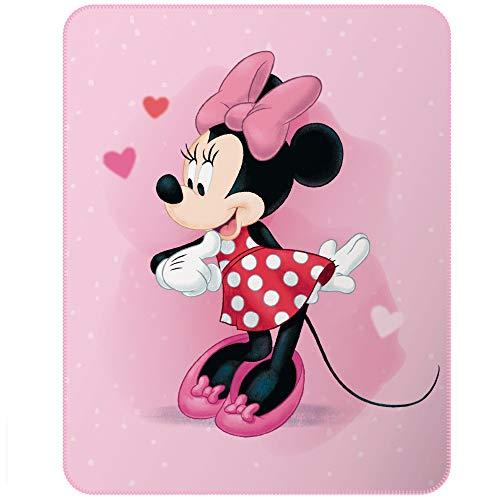 CTI Minnie Girly 46962 - Manta Polar (140 x 110 cm), Color Rosa
