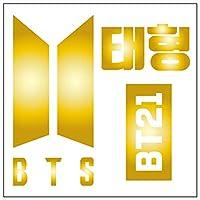 BTS V/テヒョン カッティングステッカーS 金