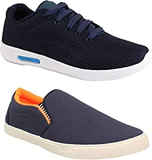 Shoefly Men Multicolour Latest Collection Sports Running Shoes - Pack of 2 (Combo-(2)-486-11067)