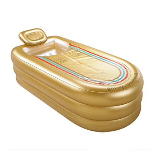 MMM@ Aufblasbare Badewanne Erwachsene Übergroße Verdickte Verdickte Kunststoff Badewanne Badewanne (Farbe : Gold)