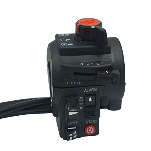 7/8 '22mm motocicleta manillar interruptores lámpara faro niebla Wanton Power Start Kill interruptor universal para H o n d a Yamaha (color: negro) JoinBuy.R