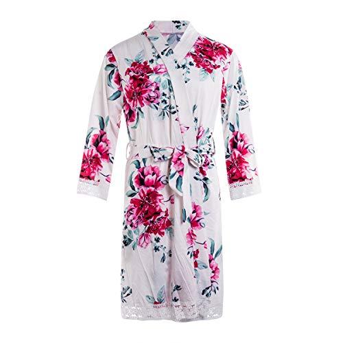FULA-bao Damen schwangerschafts-labor lieferung nursing robe lace trim blumen Nachthemds nachtwäsche mittel beige