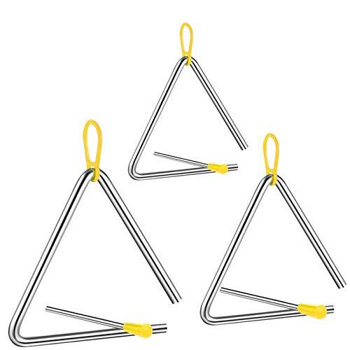 Triangel,triangel kinder,triangel kinder 3 jahre,Schlaginstrument mit Klöppel,Instrument für Percussion,Triangel für Kinder,musikalische Früherziehung,mit Schlägel & Gummigriff