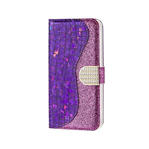 AChris Funda Samsung Galaxy A32 (5g), Funda Protectora de Cuero PU con Cáscara de TPU Ranuras para Tarjetas Soporte Plegable Cierre Magnético Flip Wallet Case Cover para Samsung A32 (5g), Púrpura
