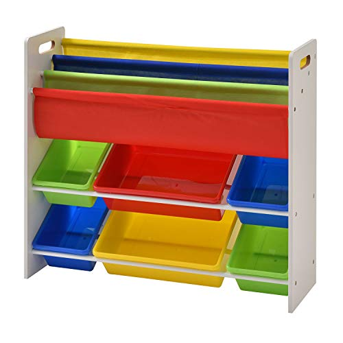 Galashield Toy Storage Organizer with Bins and Bookshelf
