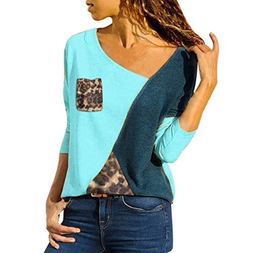 Vrouwen patchwork pullover O hals splicing kleur botsie lange mouwen plus modieuze complete maat eenvoudige tops blouse losse tuniek top oversized T-shirt sweatshirt