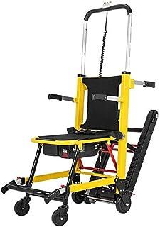 Silla de ruedas eléctrica para subir escaleras con orugas - MJBrand Silla plegable para evacuar escaleras con pilas Ayuda móvil para la movilidad para ancianos discapacitados Escalar y subir escaleras