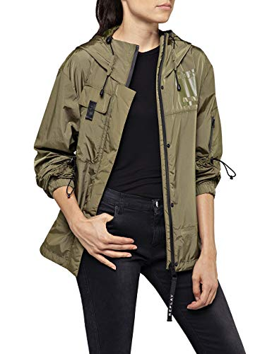REPLAY W7554 .000.83586 Chaqueta, Verde (Olive Green 334), X-Large para Mujer