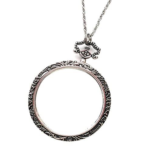 K&F-qianzhi 10X Tragbare Lupe Anhänger Halskette, Metall Lupe, Dekorative Halskette Für Lesen Münzen Schmuck Handwerk