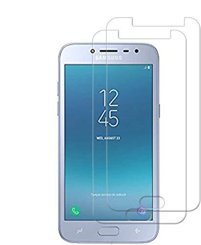 HongMan [2 Stück] Panzerglas Folie für Samsung Galaxy J2 Pure Schutzfolie, Bildschirmschutzfolie Mit Frei von Fingabdrücken & Öl, 9H Festigkeit, 0,26mm Ultra-klar, Anti-Bläschen, Anti-Kratzen