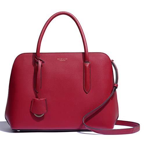 Radley Liverpool Street 2.0 medium Zip Top Multiway Bag In Red New Shape