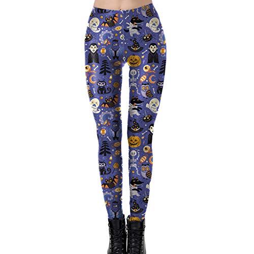 Zarupeng Halloween-leggings voor dames, skinny, fitness, yoga, trainingsbroek, heupbroek, elastische lange broek