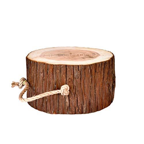 【COTTAGE (コテージ)】 薪割り台 キャンプ用 ハンドル付 高さ15cm / 樹皮付き