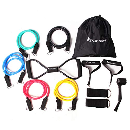 For Sale! Resistance Bands Set Training Exercise Yoga Tubes Pull Rope Elastic Exercises Fitness Work...