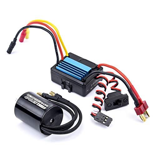 Readytosky 2430 7200KV Brushless Motor + 25A Brushless ESC Electric Speed Controller for 1/18 1/16 RC Car Truck
