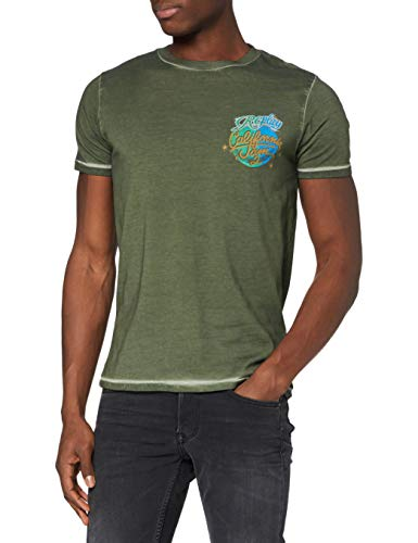REPLAY M3385 Camiseta, 432 Dark Military, XXXL para Hombre