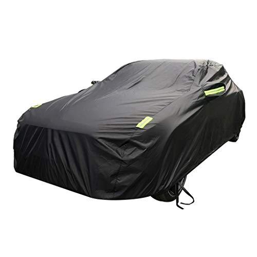 Couverture de voiture Compatible avec Tesla Car Cover Car Clothing épais Oxford Tissu Sun Protection Rain Cover Car Cloth Car Cover Car Cover (Couleur : Noir)