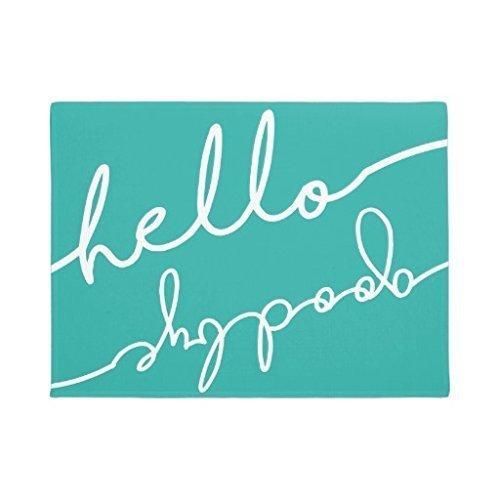 Uosliks Rubber Outdoor Door Mats Rug Hello Goodbye Typography Felpudo 16 x 24 Welcome Home Decorative Floor Mat