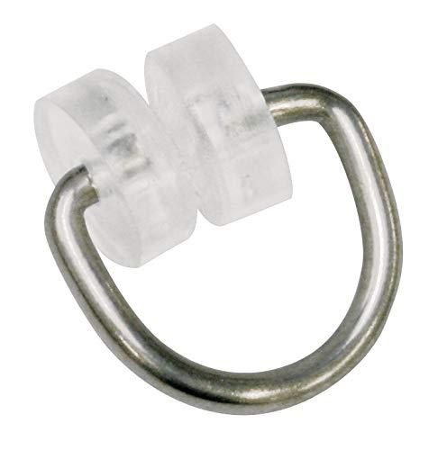 GARDINIA Rollringe, 20 Stück, Für Vorhangschienen/T-Schienen, Metall/Kunststoff, Silber/Transparent