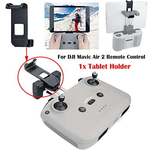 Islandse Stabilizing Extender Mount Bracket Holder Compatible with DJI Mavic Air 2 Drone Sturdy to Use- Suitable for Holding Cell Phone and Tablet Easy to Install (Black)