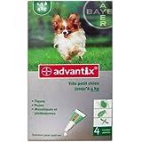 Advantix trés petit chien 1.5 à 4 kg Advantix trés petit chien 1.5 à 4 kg 4 pipettes