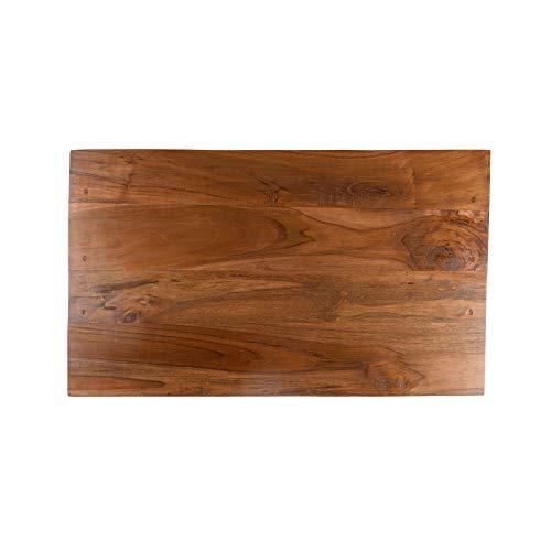 wohnfreuden Teakhouten wastafelplaat 80 cm gelakt echt houten plaat