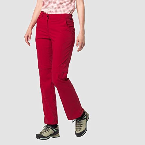 Jack Wolfskin Activate Light Zip Off Pantalon Femme, Scarlet, FR : XL (Taille Fabricant : 46)