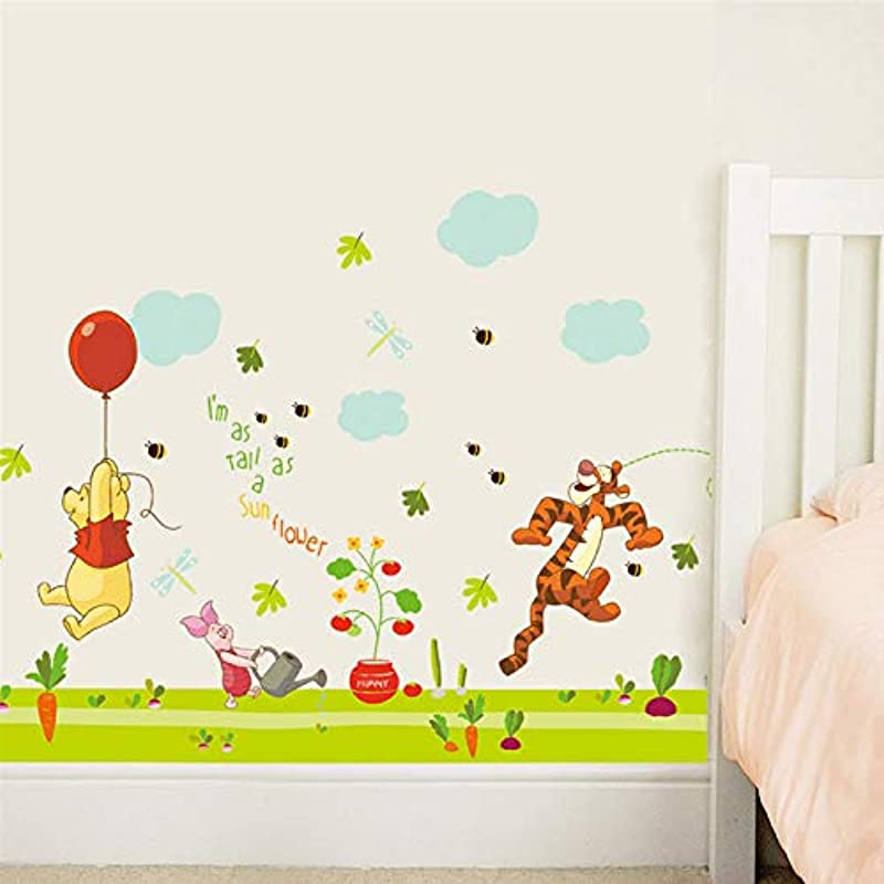Cartoon Winnie The Pooh Bear Wall Sticker For Kids Rooms Children S Tiger Bear Art Mural Wall Decals Baby Room Poster Mural