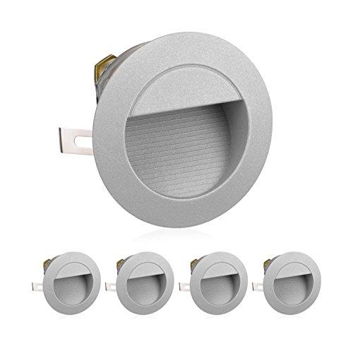 luz de escalera LED de parlatón luz de pared empotrada para el...