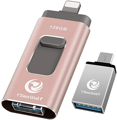 iPhone Flash Drive for iPhone 128GB USB Flash Drive Type c Flash Drive 3 0 YSeaWolf photostick product image