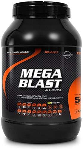 SRS Muscle - Mega Blast XXL, 3.800 g, Red Berry | Complete All-in-one Master Stack | ersetzt über 20 Einzelprodukte | entwickelt und hergestellt in Deutschland mit Premium-Rohstoffen