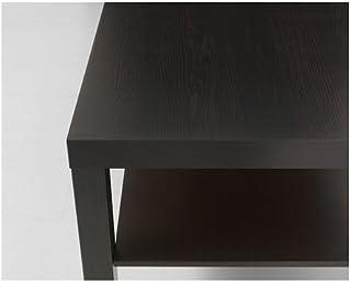 طاولة قهوة مستطيلة، لون أسود ـ بني، مقاس 90سم × 55سم × 45سم، مع رف سفلي، مطلية بالأكريليك