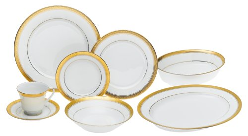 Noritake Crestwood Gold - 50 piece set, service for eight